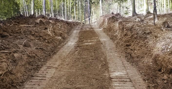 Waldwegebau Schritt 1