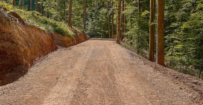 Waldwegebau Schritt 4