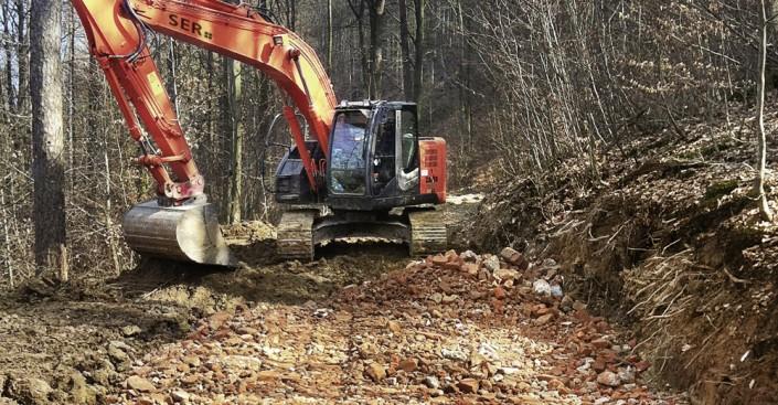 Waldwegebau Schritt 2